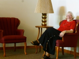Sr. Edna Marie enjoys a Sunday afternoon at the monastery