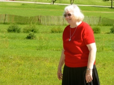 Sisters enjoy a weekend walk together on monastery grounds