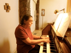 Sr. Eleanor plays the organ
