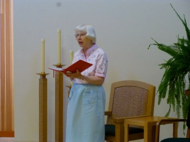 Sr. Lorane leads day prayer