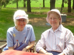 Sisters Marlene and Jeremy enjoy a sunny July 4th