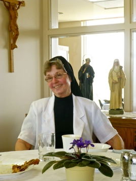 Sr. Theresa Ann share in quality time with her Sisters